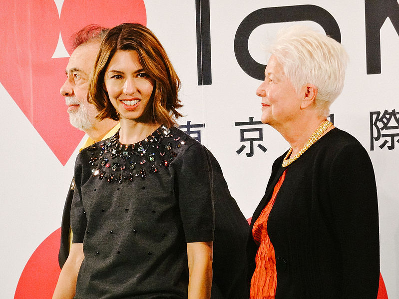 Sofia i Eleanor Coppola amb Francis Ford al fons